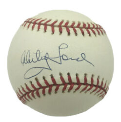 Whitey Ford Signed American League Baseball Uda Holo Upper Deck Authenticated