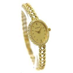 Wristwatch Tissot Oval750 K18 Yellow Gold Women's Used Gold Quartz Oval Face