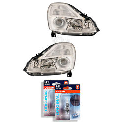 Headlight Set For Renault Mode Yr 08- Facelift Valeo With Adaptive Light H1