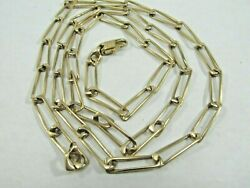 Unique 14k Solid Gold Figaro Chain Necklace 30 Long Sale Save 2400 1581