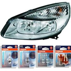 Headlight Left For Renault Scenic Ii Type Jm Phase I Year 03-06 Hella H7 +h1