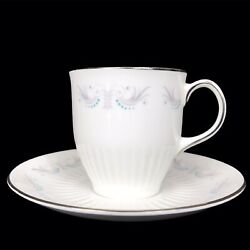 Wedgewood Vintage Bone China Miniature Teacup And Saucer Made In England Rouen