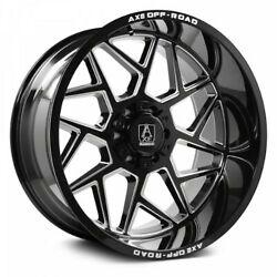4 New 26x12 Axe Off Road Nemesis Black Milled Wheels Chevy 8x6.5 8x165.1 Dodge