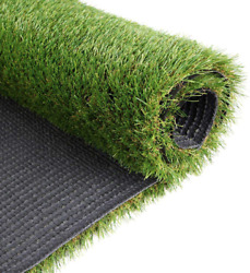 Griclner 35mm Artificial Turf Lawn Fake Grass 1.38 Pile Height Realistic Synth