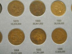 Starter Set Of Indian Head Cents 1879-1909-p31 Coins     B-5