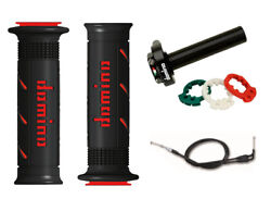 Yamaha Yzf 750 R7 Ow 02 99-02 Domino Xm2 Quick Action Throttle Black / Red Grips