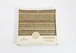 Vtg Hallmark Postalettes Rare Woven Pattern, Sealed 12 Fold-up Letters And Seals.