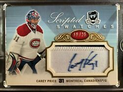 2007/08 Upper Deck The Cup Scrited Swatches Rookie Carey Price Auto/patch 19/25