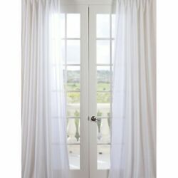 Exclusive Fabric / Furnishing 50 And039and039 X 50 And039and039 Orchid Sheer Curtain White