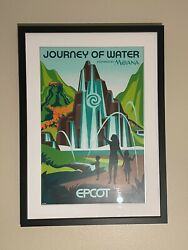 Professionally Framed Epcot Journey Of Water Serigraph Original