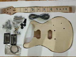 Good Diy 1 Set Unfinished Guitar Neck And Body Electric Guitar Kit All Hardware