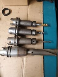 Lot Of Km80 Toolholders With Taps And One Indexable 2-1/8 Drill