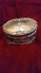 Authentic Vintage Towle Silver Heavy Musical Jewlery Box