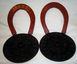 Vintage Auburn Rubber Western Cowboy Ranch Horseshoe Ring Toss Childs Toy Game