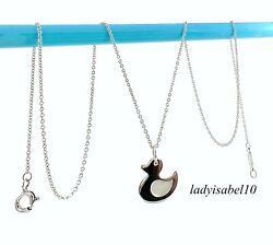 And Co. Sterling Silver 17 Necklace Lucky Duck Charm Pendant Gift  2144f