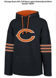 🏈🐻chicago Bears Nfl 47 Brand Fall Navy Legion Embroidered Men's Xl Hoodie 🏈🐻