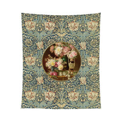 Flowers By Paul de Longpre Vintage Image 50x60 Tapestry Or Tablecloth