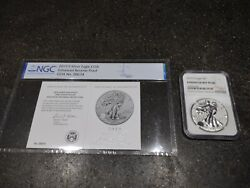 2019 S Silver American Eagle Enhanced Reverse Pf 70 With Low Coa 05674 Free Ship