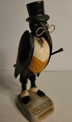 Rare Vintage Old Crow Statue Advertisement Bourbon Bar Display As Is 11 Inches