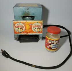 Vintage Wonder Bubbles Electric Machine And Jar Working Condition