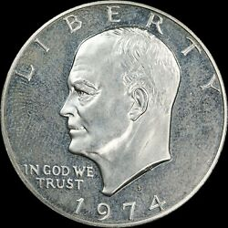 1974 S, 1, Proof Eisenhower Dollar, Uncirculated - Collectors Coin