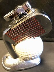 Vintage Table Lighter Butane Golf Club Ball Working Condition Made In Japan