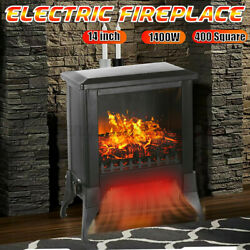14'' 1400w Electric Fireplace Remote Control 3d Flame Heater Free Standing