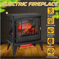 20'' 1400w Electric Fireplace Remote Control 3d Flame Heater Free Standing
