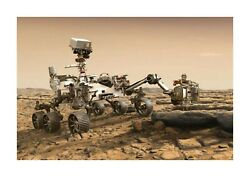 Nasa Mars Lander Perseverance A4 Photograph Picture Poster With Choice Of Frame