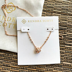 Kendra Scott Rue Rose Gold Pendant Necklace New Authentic