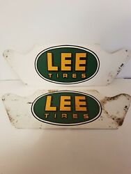 Antique Lee Tires Stand Rare Tire Advertising Signs