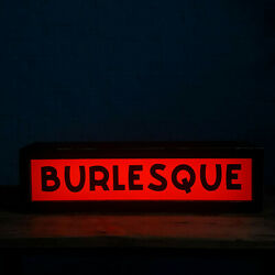 Large Illuminated And039burlesqueand039 Sign - Electric