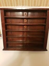 Very Rare Antique Billiards Wooden Ball Rack With Stencil Numbering