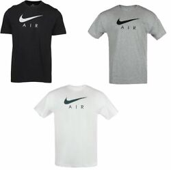 Nike T-shirt Menand039s Air Swoosh Logo Vintage Athletic Short Sleeve Gym Active Tee
