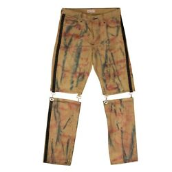 Nwt Palm Angels Yellow Corduroy Clip Pants Size 32 860