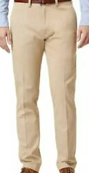 Lacoste Men's Lacoste Chino Pants W40 Big And Tall Colorkhaki Flat Front Nwt