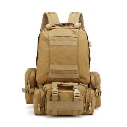 4 In 1 Tactical Molle System Army Backpack Sport Camping Hiking Hunting Rucksack