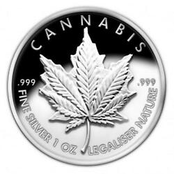2013 Cannabis Proof - Silver Bullet Silver Shield .999 Collector Medallion Sbss