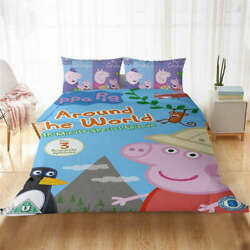 Great Piggy Page And Animal 3d Quilt Duvet Doona Cover Set Pillow Case Print