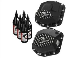 Afe 46-7100ab Pro Series Front/rear Diff Cover Kit +oil 18-20 Jeep Wrangler 3.6l