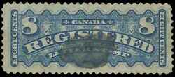 Canada Scott F3a Gibbons R8 Used Stamp