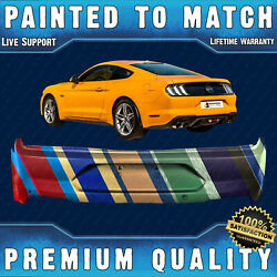 New Painted To Match Rear Bumper Replacement For 2018-2021 Ford Mustang W/ Park
