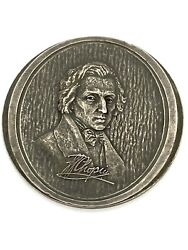 Sterling Silver Frederic Chopin Table Medal 124.6g