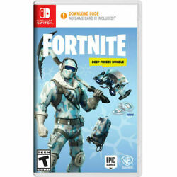 Nintendo Switch Fortnite Deep Freeze Bundle - New Sealed Rare Out Of Print