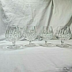 Four Waterford Made In Ireland Kylemore Brandy Snifter Barware Glasses .