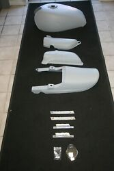 Kawasaki Used, Primed, Z1, 74-75, Gas / Fuel Tank, Side Covers,cowl,cap,emblems