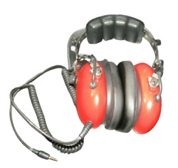Aviation Communication Headset Headphones Red Color