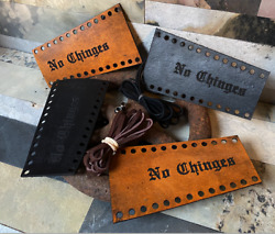 No Chinges Custom Quality Leather Lever Covers Motorcycle Harley Davidson Pair