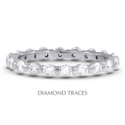 3ct G Vs2 Round Earth Mined Certified Diamonds 14k Gold Classic Eternity Ring