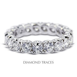 2 Ctw I Si2 Round Cut Natural Certified Diamonds 18k Gold Classic Eternity Ring